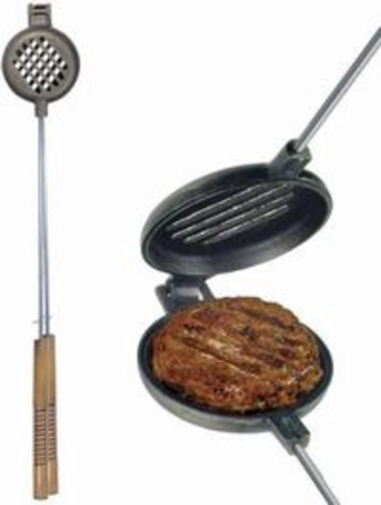 Rome Industries 1505 Hamburger Griller Slotted Cast Iron