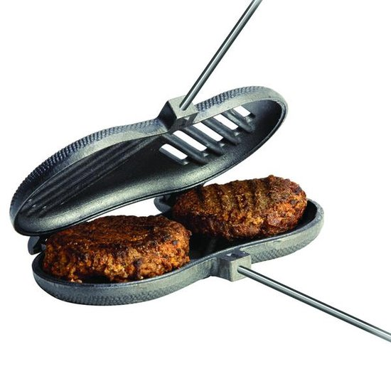Rome Industries 1525 Double Burger Griller Cast Iron